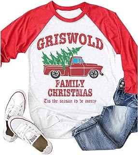 Griswold Family Christmas Shirt Women Baseball Raglan Sleeve Casual T-Shirt Top Tee