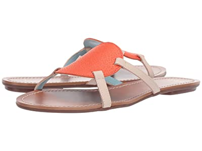 Frances Valentine Circle Slide Sandal (Orange/Oyster) Women