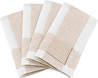 "Ivory Hemstitch Square Fabric Napkin, 20"""