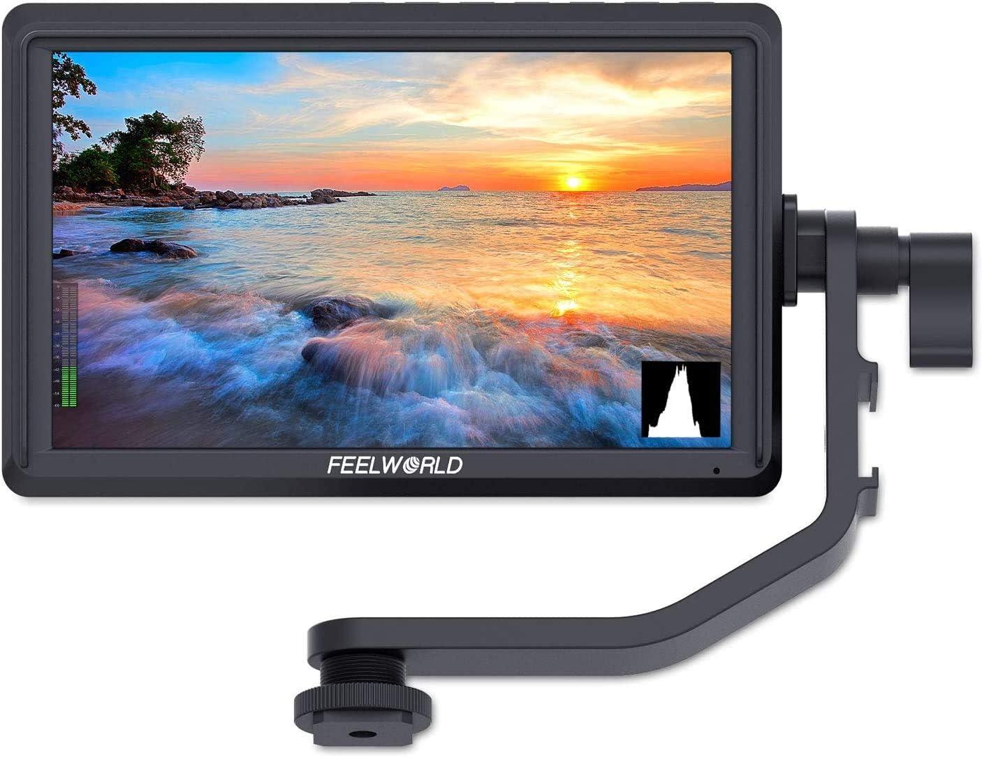 FEELWORLD FW568 DSLR de 5.5 Pulgadas en cámara Monitor de Campo Pequeño Full HD 1920x1080