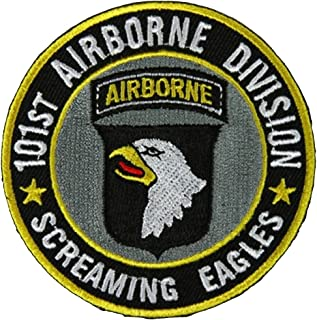 101ST AIRBORNE DIVISION SCREAMING EAGLES ROUND PATCH - Color - Veteran Owned Business.