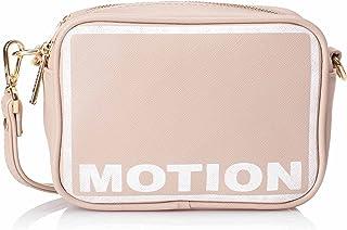 Club Aldo Motion Letter Print Crossbody Bag with Detachable Shoulder Strap for Women
