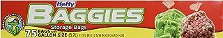 Hefty Baggies Food Storage Gallon, 75 ct