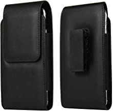 DFV mobile - Holster Case with Magnetic Closure and Belt Clip Swivel 360 for Alcatel Pixi 4 (5) - Black