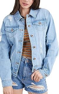 Style One Women's Distressed Denim Jackets