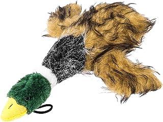 UEETEK Juguetes perro mastiquen juguetes peluche pato chillón para perros pequeño perro de peluche juguetes (marrón)