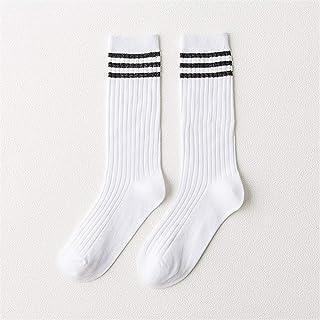 Calcetines casuales 5 pares de calcetines de pila for mujer otoño invierno cálido calcetines de punto calienta botas para Fitness Deportes al aire libre ( Color : Blanco , tamaño : Free size )