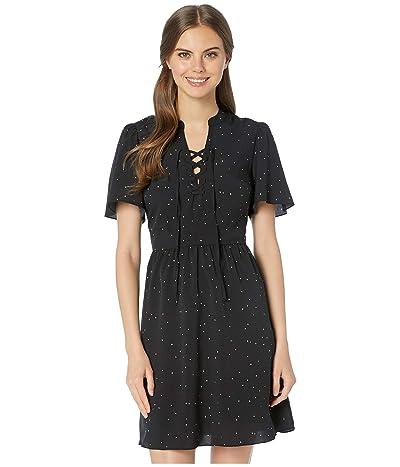 kensie Celestial Stars A-Line Dress KS6K8379 (Black Combo) Women