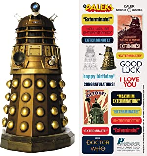 Doctor Who Dalek Quotable Notable - Die Cut Silhouette Greeting Card and Sticker Sheet