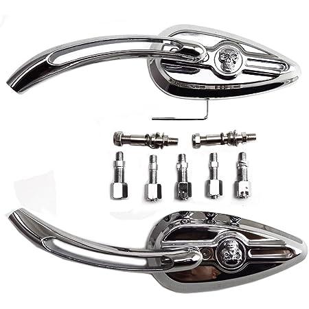 Anzene Höchste Qualität Chrom Skull Teardrop Rückspiegel Für Harley Softail Heritage Schlank Breakout Harley 48 72 Dyna Street Bob Niedrige Fahrt Touring Softail Road King Glide Auto