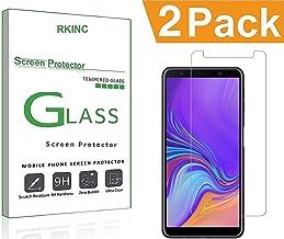مجموعة من 2، RKINC من أجل واقي شاشة Samsung A7 2018 ، واقي شاشة زجاج شفاف شفاف [صلابة 9H][2.5D Edge][0. 33 ملم][مقاوم للخدش] لهاتف Samsung Galaxy A7 2018