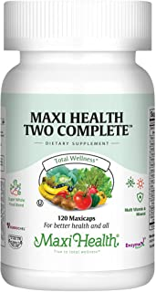 Maxi Health Two Complete - Multivitamins and Minerals - Full Potency - 120 Capsules - Kosher