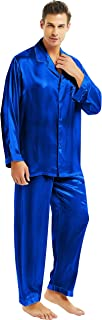 Mens Silk Satin Pajamas Set S M L XL 2XL 3XL 4XL