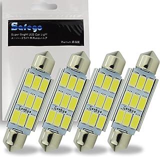 Safego 4 x 42mm LED Canbus 9SMD 5730 Luz Interior de Coche Festón Lámpara Blanco Numero de Canbus c5w luz de la placa del ...