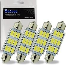 Safego 4 x 42mm LED Canbus 9SMD 5730 Luz Interior de Coche Festón Lámpara Blanco Numero de Canbus c5w luz de la placa del adorno de la boveda del bulbo de 12V Auto-Dome Bombilla
