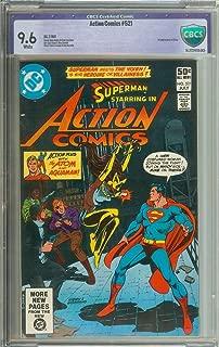 ACTION COMICS #521 CBCS 9.6 WHITE PAGES