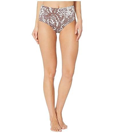 Maaji Moon and Sea Darling Reversible High-Waist Signature Coverage Bikini Bottoms (Sugar White Python) Women