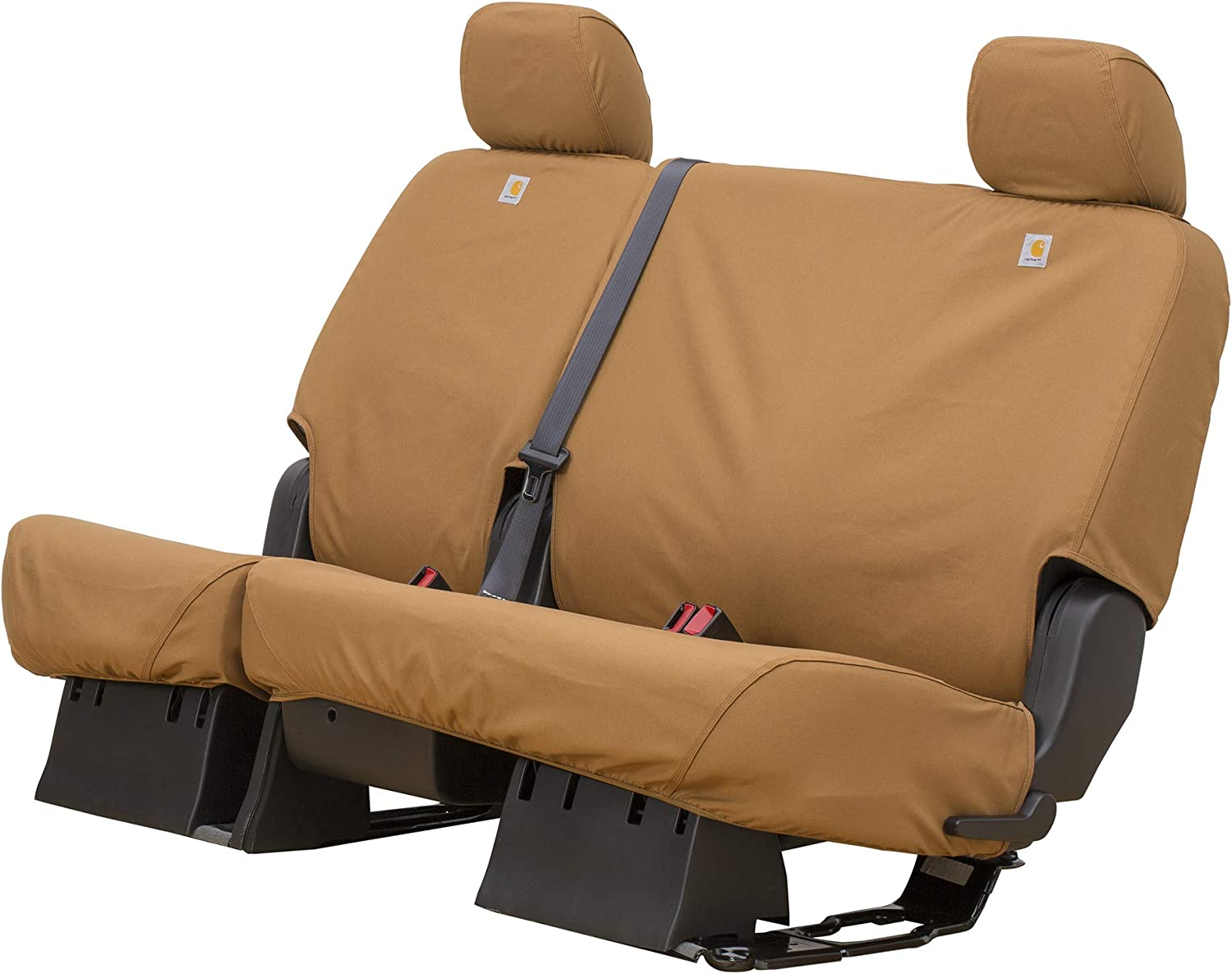 Covercraft Carhartt SeatSaver Second Row Custom Fit Seat Cover for Select Chevrolet//GMC Models Duck Weave Brown