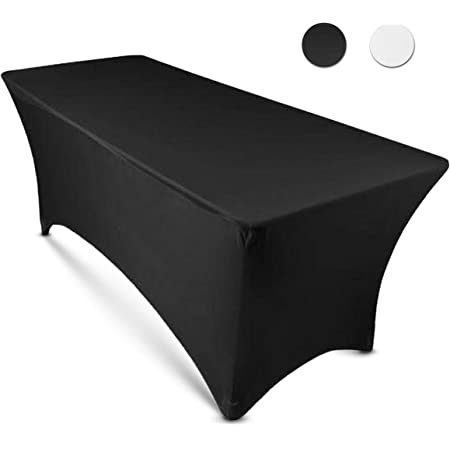Fits 8 ft Tables,Premium Spandex Fitted Tablecloths personalied Tablecloths cuzstomized tablecloths,polyester tablecloths,Premium linen