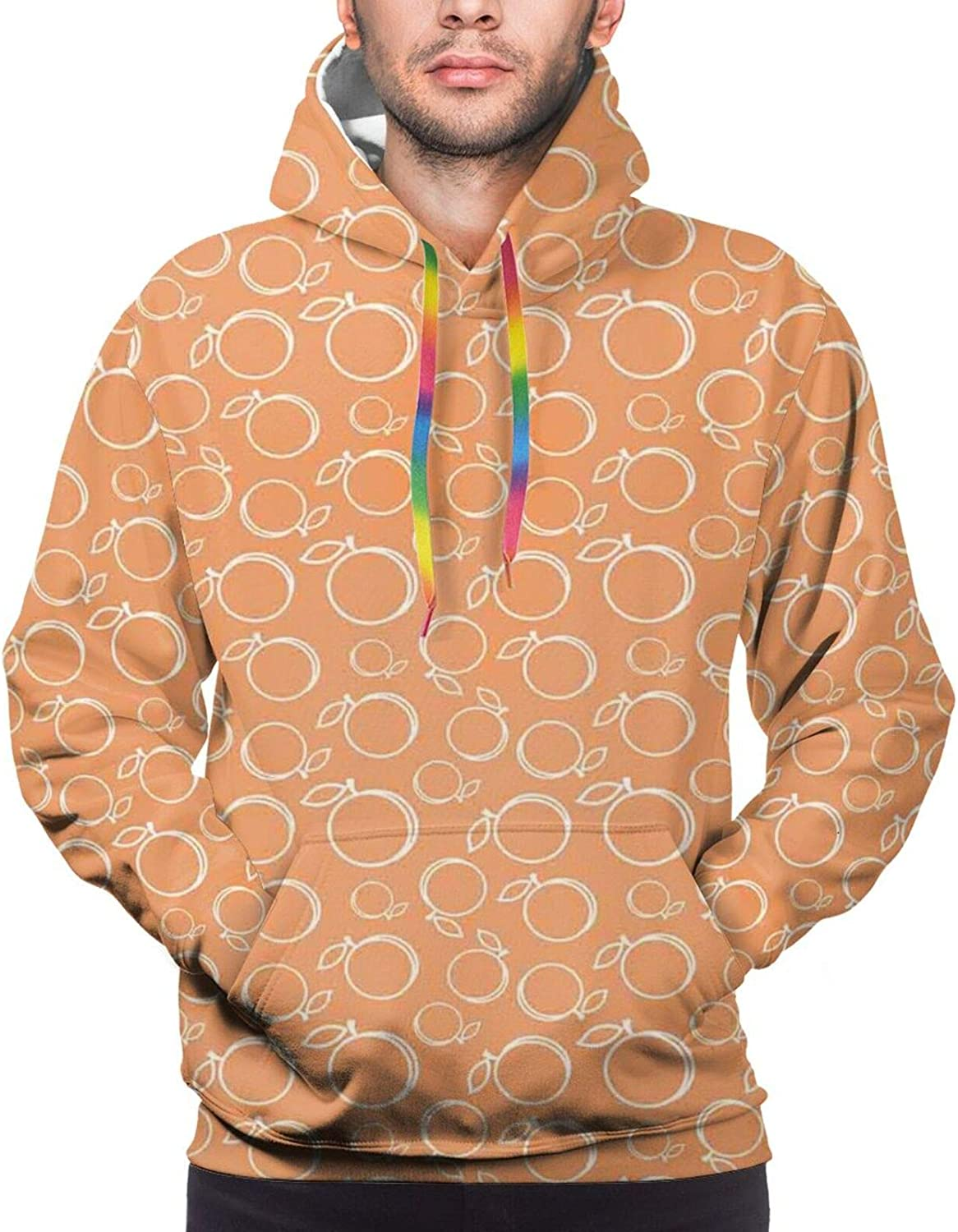 TENJONE Men's Hoodies Sweatshirts,Continuous Pattern with Lovely Pet Sausage Dog Lover Print