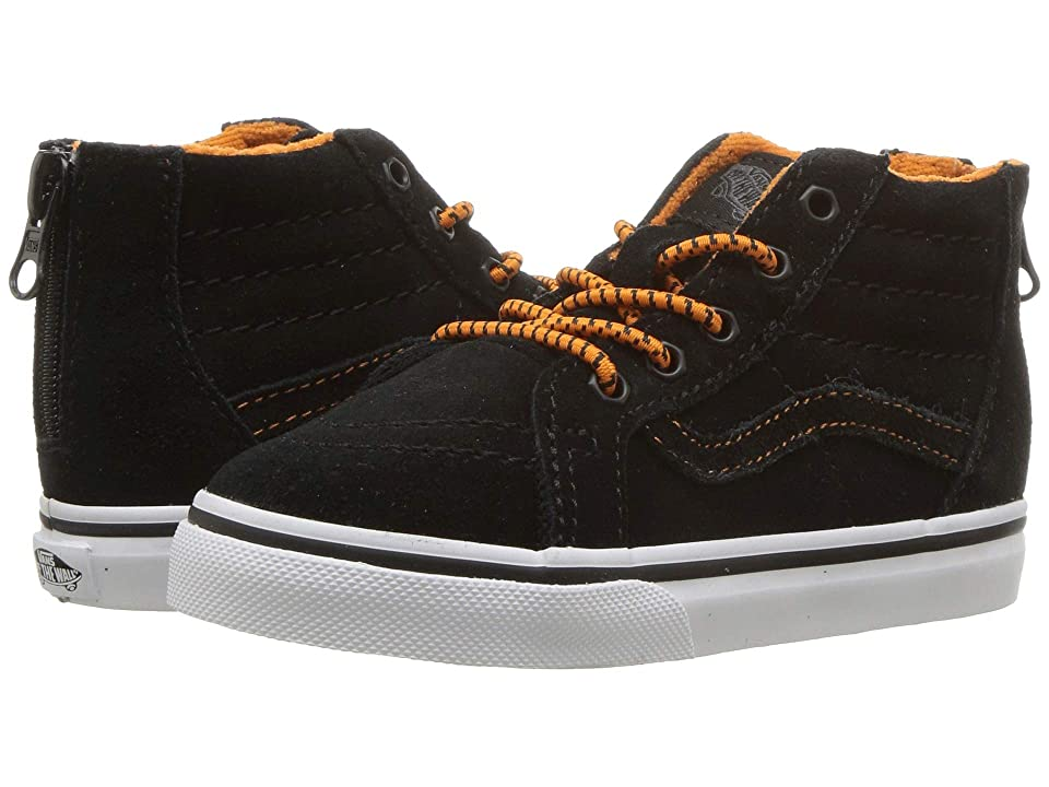 Vans Kids Sk8-Hi Zip (Infant/Toddler) ((MTE) Orange/Black) Boys Shoes