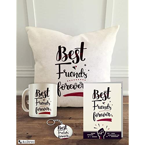 Aldivo 12 X Friends Theme Printed Cushion Cover With Filler Coffee