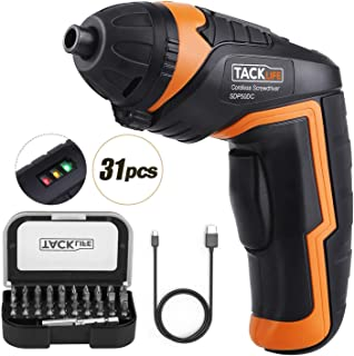TACKLIFE Cordless Screwdriver, Electric Screwdriver, 4V MAX 2.0Ah Li-ion with Battery..