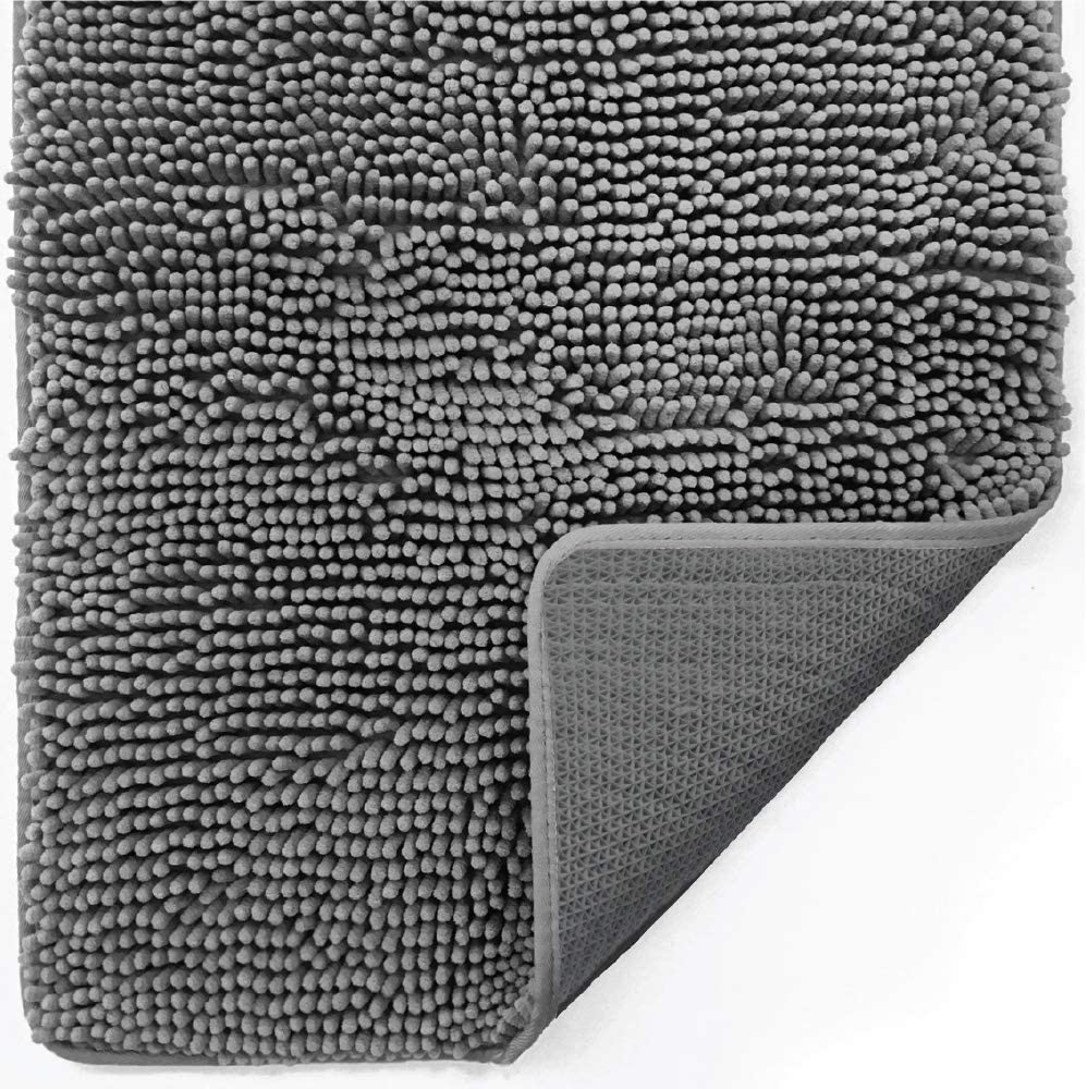 Gorilla Grip Indoor Durable Chenille Indefinitely Soft 70x24 Absorb Doormat Fresno Mall