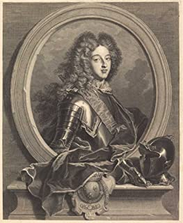 Fine Art Print - Louis de France, duc de Bourgogne 1707 - Pierre Drevet after Hyacinthe Rigaud - Vintage Wall Decor Poster Reproduction - 11in x 14in