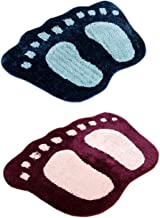 Yazlyn Collection Microfiber Mat (Multicolour) - Set Of 2