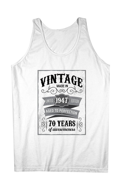 Vintage Made In 1947 70 Years お誕生日 男性用 Tank Top Sleeveless Shirt