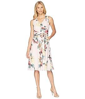 Floral Knot Waist Dress