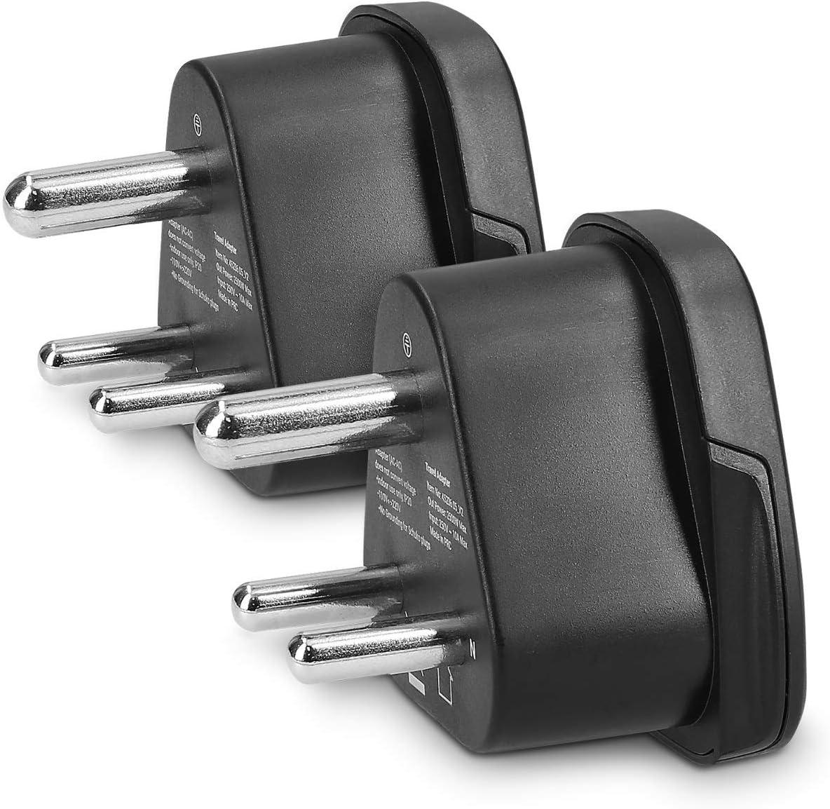 Kwmobile 2x Reiseadapter Typ D Reise Adapter Zu Typ D Elektronik