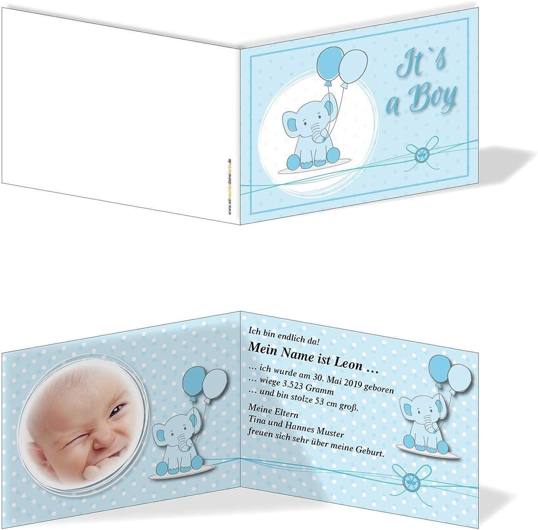 Geburtskarten Babykarten individuell - Junge Rüsseltier B07MZVY2ZG   Verbraucher zuerst
