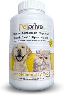 Petprive Integratore Naturale Antinfiammatorio Condroprotettore per Cani e Gatti con Collagene Idrolizzato, Glucosamina, A...