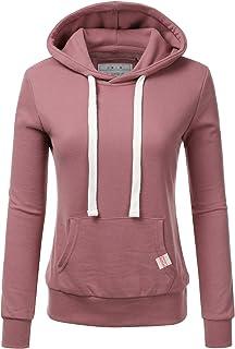 9e0bf2c0546f2e Doublju WoWomeeens s Basic Lightweight Pullover Hoodie Sweatshirt with Plus  Size