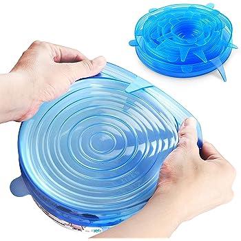 ORBLUE Tapas de silicona elásticas, paquete de 6 de varios tamaños