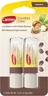 Carmex Comfort Care Lip Balm Stick with Shea Butter - 0.15 OZ, 2 Count