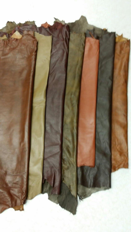 ganz Schaf-Haut 7 bis 10 Sf Antique Brown REED Lederh/äuten