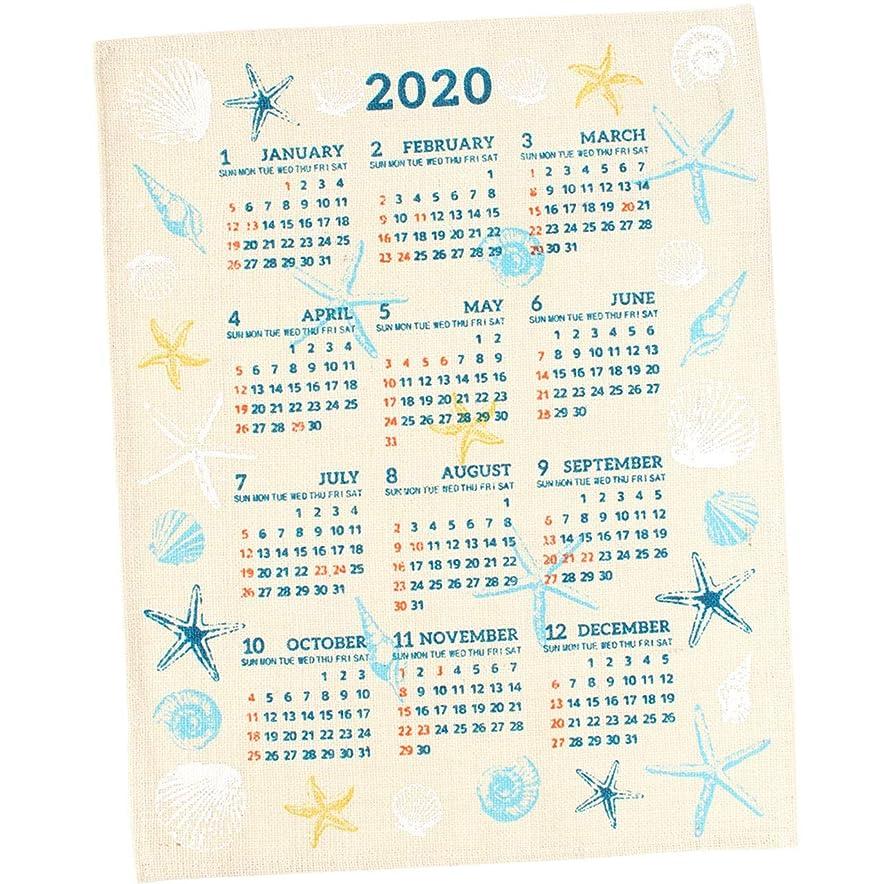 割るアクセント同化する[ラトルウッド]RattleWood 2020 カレンダー 壁掛け 麻 ジュート ポスター 北欧 ハワイアン フロートシェル