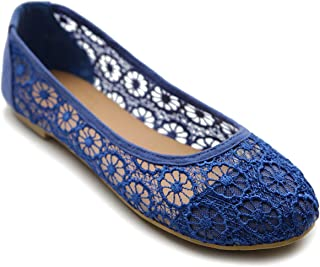 Women's Ballet Shoe Floral Lace Breathable Flat
