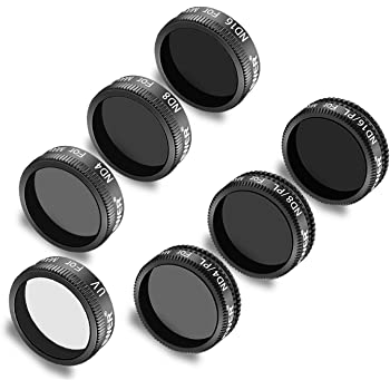 ND16//PL Made of Multi Coated Waterproof Aluminum Alloy Frame Optical Glass ND8//PL ND 32 ND16 Neewer DJI Mavic Air Filters-6 Pack ND8 ND4//PL Gold