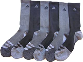 Mens Adidas Athletic Socks 6 Pack (Black/Carbon Grey)