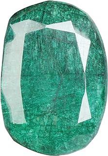 Real Gems Piedra de Esmeralda Natural, Talla Ovalada facetada Color Verde 357.00 CT Piedra Preciosa Verde Esmeralda certif...