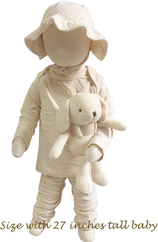 Organic Cotton Baby Protective Pillow 3D Air Mesh Baby Elephant - Choco Dot