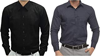 ZAKOD Polka Print Cotton Shirts for Men for Casual Use,Normal Wear Shirts,Available Sizes M=38,L=40,XL=42(Pack of 2)