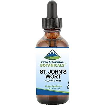 St Johns Wort Tincture – Kosher Liquid St. John's Wort Alcohol-Free Extract - 500mg - 1oz Bottle
