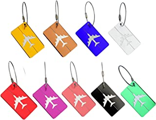 9 Packs Luggage Travel Tags Luggage Bag Suitcase Tag Labels