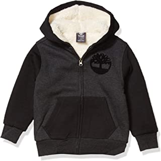 Boys' Sherpa Lined Fleece Full Zip Hoodie