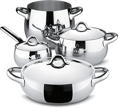 Alessi SG100S7 Pcs Mami 7 Piece Kitchen Set, Silver
